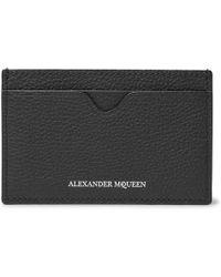 Alexander McQueen - Full-grain Leather Cardholder - Lyst