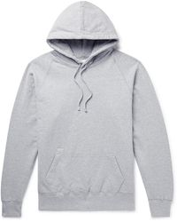 Adsum Logo-embroidered Mélange Fleece-back Cotton-blend Jersey Hoodie - Grey