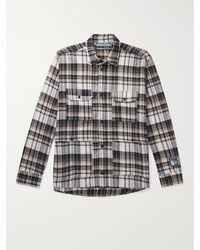 Reese Cooper Cotton-flannel Shirt - Brown