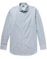Sid Mashburn Striped Cotton-poplin Shirt - Blue