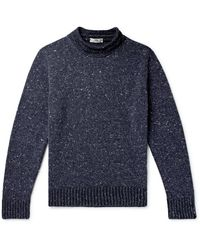 Inis Meáin - Donegal Merino Wool And Cashmere-blend Mock-neck Sweater - Lyst