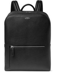 Smythson Ludlow Full-grain Leather Backpack - Black