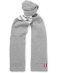 Thom Browne - Striped Merino Wool Scarf - Lyst