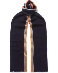 Paul Smith - Artist Striped Virgin Wool And Silk-blend Scarf - Lyst