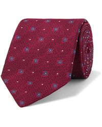 Bigi 8cm Silk-jacquard Tie - Red