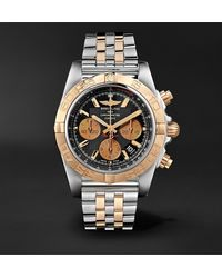 Breitling Chronomat B01 Chronograph 44mm Stainless Steel And Gold Watch, Ref. No. Cb0110121b1c1 - Black