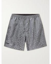 True Tribe Neat Steve Mid-length Iridescent Econyl Swim Shorts - Grey