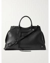 Balenciaga Full-grain Leather Duffle Bag - Black