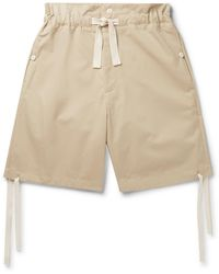 Nicholas Daley Wide-leg Cotton-twill Drawstring Shorts - Natural