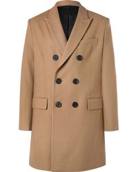 AMI - Slim-fit Double-breasted Felted Wool-blend Coat - Lyst