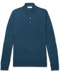 Richard James - Slim-fit Merino Wool Polo Shirt - Lyst