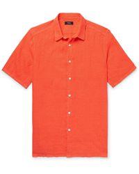 Theory - Slub Linen Shirt - Lyst