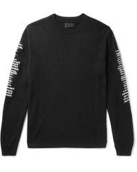 RTA Logo-embroidered Cashmere Sweater - Black