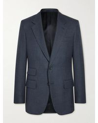 Kingsman Harry Slim-fit Prince Of Wales Checked Wool Suit Jacket - Blue