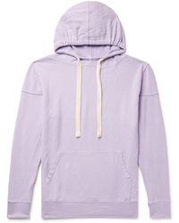 Jungmaven Maui Garment-dyed Hemp And Organic Cotton-blend Jersey Hoodie - Purple