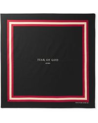 Fear Of God - Printed Cotton And Silk-blend Bandana - Lyst