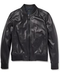 Calvin Klein - Kansas Perforated Leather Bomber Jacket - Lyst