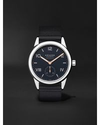 Nomos Glashütte Club Campus Neomatik Automatic 39.5mm Stainless Steel And Canvas Watch, Ref. No. 767 - Blue