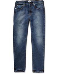 NN07 Nn.07 James Regular Selvedge Distressed Wash Denim Jeans - Blue