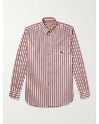 L.E.J Washed-silk Shirt - Brown