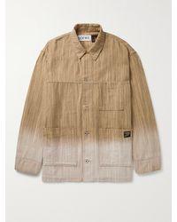 Loewe Paula's Ibiza Dip-dyed Striped Cotton-jacquard Chore Jacket - Multicolour
