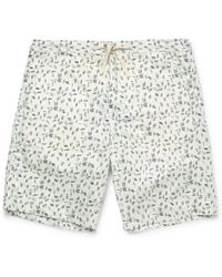 Oliver Spencer - Printed Stretch-cotton Pyjama Shorts - Lyst