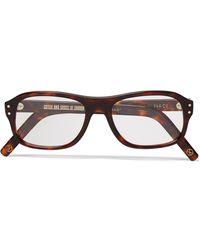 Kingsman Cutler And Gross Square-frame Tortoiseshell Acetate Optical Glasses - Brown