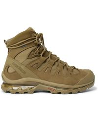 Salomon Quest 4d Gtx Advanced Rubber-trimmed Suede And Gore-tex Hiking Boots - Brown
