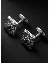 Buccellati Rouche Silver Onyx Cufflinks - Metallic