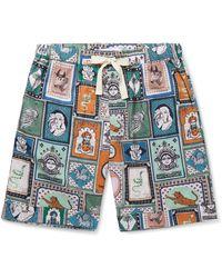 Desmond & Dempsey Linen Pyjama Shorts - Green