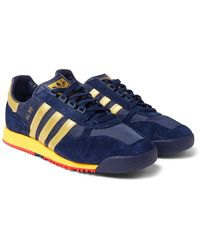 adidas Originals - Sl 80 Spezial Faux Suede And Leather And Mesh Sneakers - Lyst