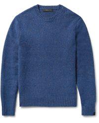 Rag & Bone - Lucas Donegal Virgin Wool-blend Jumper - Lyst