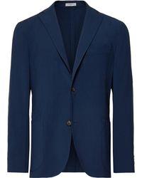 Boglioli - Blue Unstructured Virgin Wool Blazer - Lyst