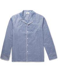 Sleepy Jones - Henry Mercerised Cotton Pyjama Shirt - Lyst