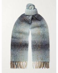 Séfr Fringed Wool-blend Scarf - Multicolour