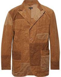 Engineered Garments Camel Patchwork Cotton-corduroy Blazer - Natural