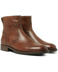 Belstaff - Attwell Leather Boots - Lyst