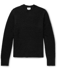 Acne Studios Peele Bobbled Wool And Cashmere-blend Jumper - Black