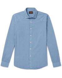 Tod's Washed-cotton Shirt - Blue