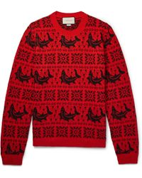 Gucci - Fair Isle Jacquard Wool And Alpaca-blend Sweater - Lyst