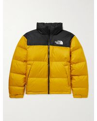 The North Face 1996 Retro Nuptse Quilted Dwr-coated Ripstop Down Hooded Jacket - Yellow