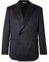 Altea Double-breasted Cashmere Blazer - Blue