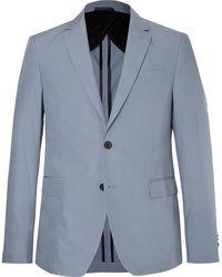 BOSS   Light-blue Nobis Slim-fit Cotton-poplin Suit Jacket   Lyst