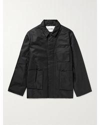 Nanushka Omar Padded Nylon-twill Shirt Jacket - Black