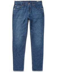 Brunello Cucinelli - Slim-fit Denim Jeans - Lyst