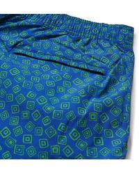 Thorsun Charvet Mid-length Printed Swim Shorts - Blue