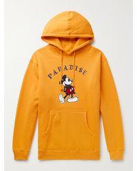 Paradise Printed Fleece-back Cotton-blend Jersey Hoodie - Yellow