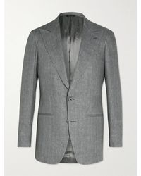 Saman Amel Linen Blazer - Grey