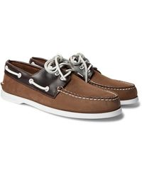 Sperry Top-Sider Authentic Original Nubuck And Leather Boat Shoes - Brown