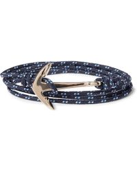 Miansai - Anchor Cord And Gold-plated Wrap Bracelet - Lyst